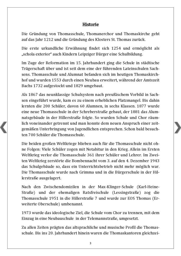 Thomasschule Historie